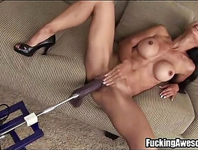 Tia Ling Plays With A DP Fucking Machine