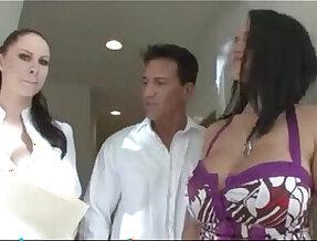Breasts worship Gianna Michaels and Carmella Bing