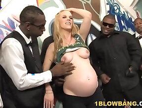 Pregnant Hydii May BBC Interracial blowbang nasty Gangbang