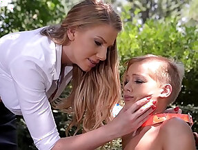 Mistress Danielle Maye ravages her Submissive before Fucking her