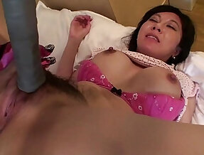 Uncensored Japanese milf with tennis racket Subtitled