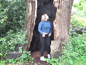Sexy Ashley Rider flashing and voyeur babes showing her tits in public