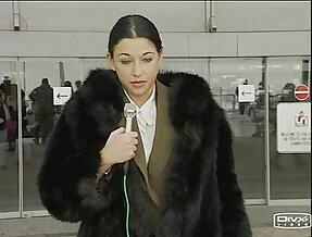 Anal Kika In A Black Fox Fur Coat