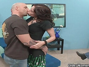 Milf sucks fucks stranger while hubby takes pictures with his phone