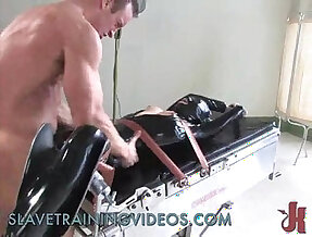 Tied slave gets caned and whipped in brutal bondage