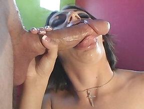 Naudia Nyce puts on a blowjob with Chris Charmings big cock