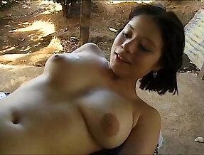 Latin Teen Gina And Big Black girl with huge Cock