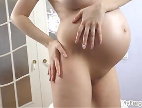 Pregnant Lina Lotions Up Her Flawless Young Body!