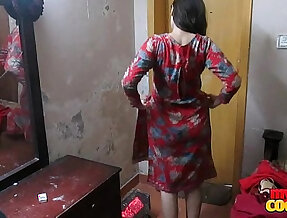 Indian wife sonia in shalwar suir strips naked at hardcore anal fuck