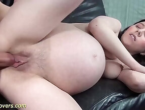 extreme pregnant webcam girl gets strong dick