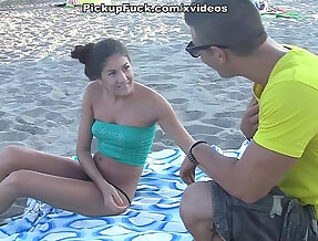 pick up girl on the beach and fuck her