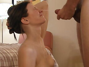 18 year old college girl Abrina doing it on camera