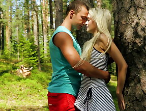 Passionate sex in the woods